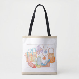 We love summer! original tote bag in light brown