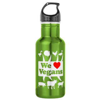 We love Vegans II (wht) 532 Ml Water Bottle