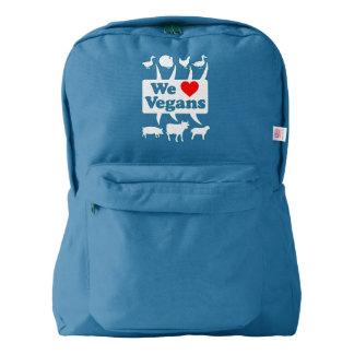 We love Vegans II (wht) Backpack