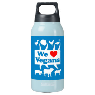 We love Vegans II (wht) Insulated Water Bottle