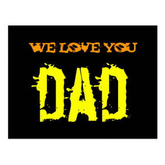 We love you, Dad with sweet watermark! Postcard