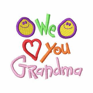 We Love You Grandma Embroidered Jacket