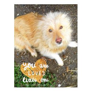 We Love You Sarah Dog Postcard