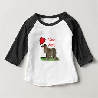 we luv afghan hounds from tony fernandes baby T-Shirt