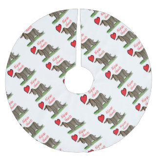 we luv afghan hounds from tony fernandes brushed polyester tree skirt
