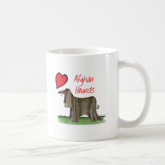 we luv afghan hounds from tony fernandes coffee mug