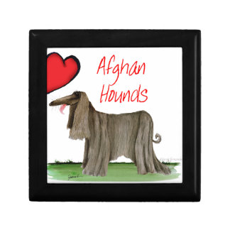 we luv afghan hounds from tony fernandes gift box