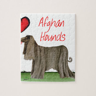 we luv afghan hounds from tony fernandes jigsaw puzzle