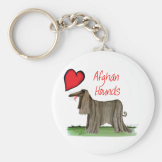 we luv afghan hounds from tony fernandes key ring