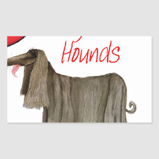 we luv afghan hounds from tony fernandes rectangular sticker