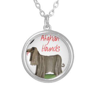we luv afghan hounds from tony fernandes silver plated necklace
