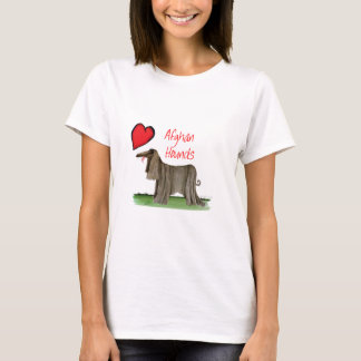 we luv afghan hounds from tony fernandes T-Shirt