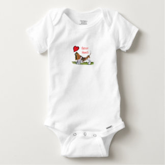 we luv basset hounds from tony fernandes baby onesie