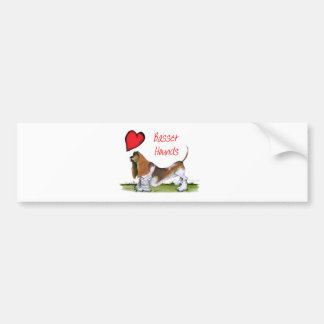 we luv basset hounds from tony fernandes bumper sticker