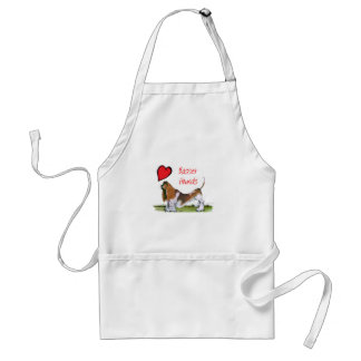 we luv basset hounds from tony fernandes standard apron