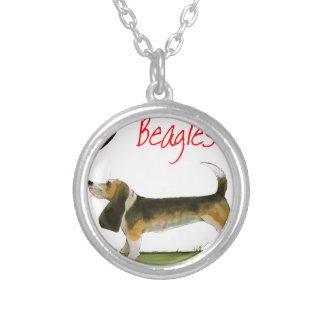 we luv beagles from tony fernandes silver plated necklace