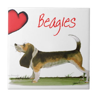 we luv beagles from tony fernandes tile