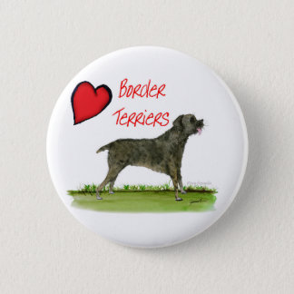 we luv border terriers from tony fernandes 6 cm round badge