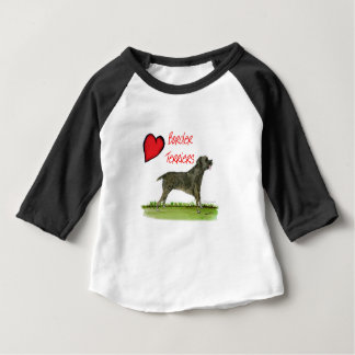 we luv border terriers from tony fernandes baby T-Shirt
