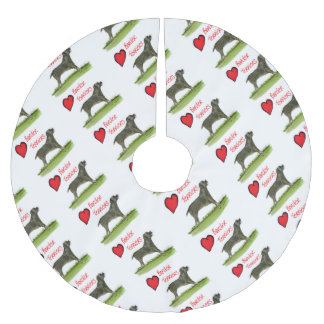 we luv border terriers from tony fernandes brushed polyester tree skirt