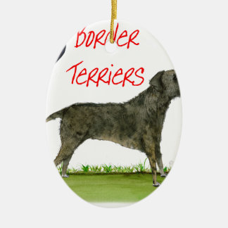 we luv border terriers from tony fernandes ceramic ornament