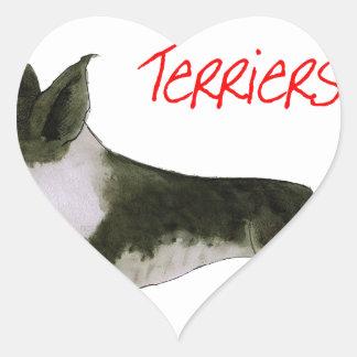 we luv boston terriers from tony fernandes heart sticker