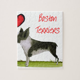 we luv boston terriers from tony fernandes jigsaw puzzle