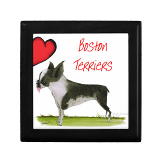 we luv boston terriers from tony fernandes small square gift box