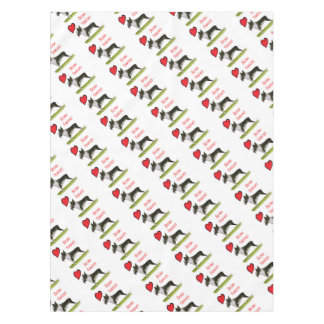 we luv boston terriers from tony fernandes tablecloth