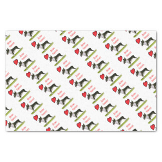 we luv boston terriers from tony fernandes tissue paper