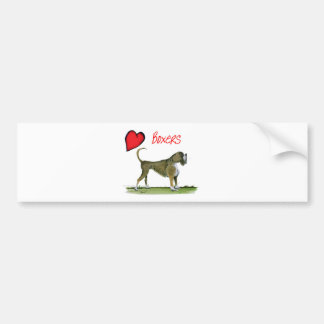 we luv boxers from tony fernandes bumper sticker