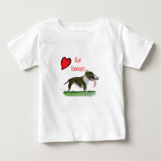 we luv bull terriers from tony fernandes baby T-Shirt