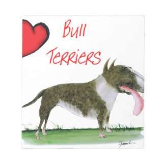 we luv bull terriers from tony fernandes notepad