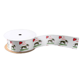 we luv bull terriers from tony fernandes satin ribbon