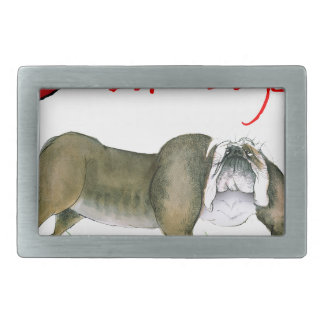 we luv bulldogs from tony fernandes belt buckle
