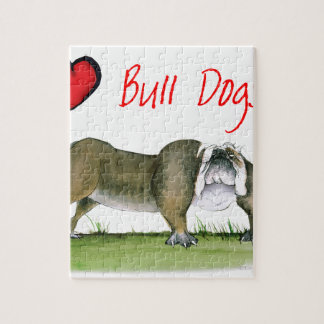 we luv bulldogs from tony fernandes jigsaw puzzle