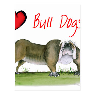 we luv bulldogs from tony fernandes postcard