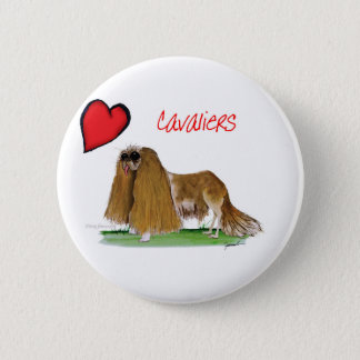 we luv cavaliers from tony fernandes 6 cm round badge