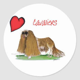 we luv cavaliers from tony fernandes round sticker