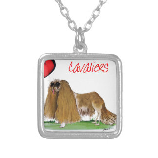 we luv cavaliers from tony fernandes silver plated necklace