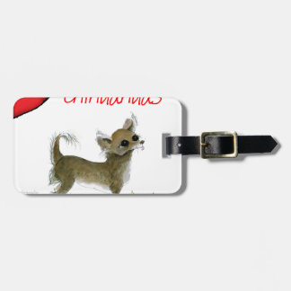 we luv chihuahuas from tony fernandes luggage tag