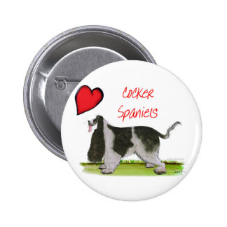 we luv cocker spaniels from tony fernandes 6 cm round badge