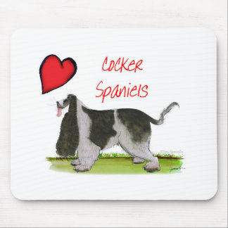 we luv cocker spaniels from tony fernandes mouse pad