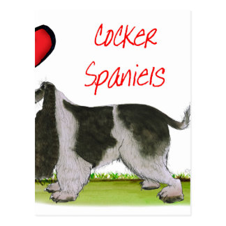 we luv cocker spaniels from tony fernandes postcard