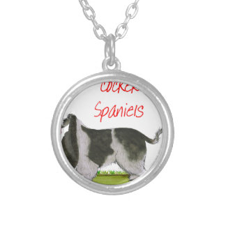 we luv cocker spaniels from tony fernandes silver plated necklace