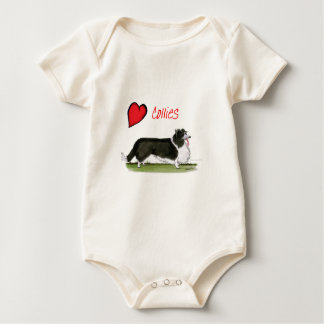 we luv collies from tony fernandes baby bodysuit