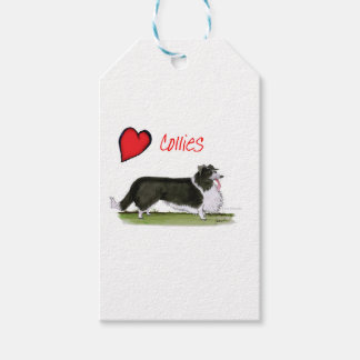 we luv collies from tony fernandes gift tags