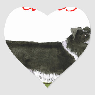 we luv collies from tony fernandes heart sticker