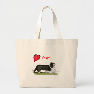 we luv collies from tony fernandes large tote bag