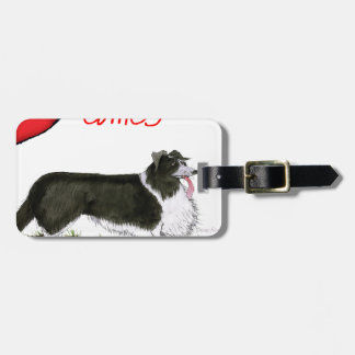 we luv collies from tony fernandes luggage tag